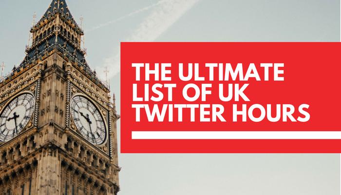 Full list of UK Twitter Hours in 2018