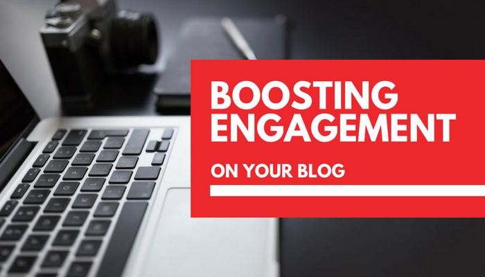 How can I increase engagement levels on my blog?