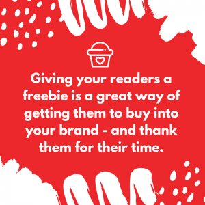 Thank people who comment on your blog with a freebie