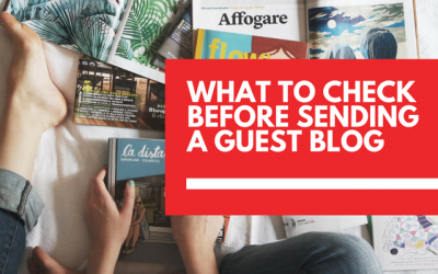 6 things to check before submitting your guest post