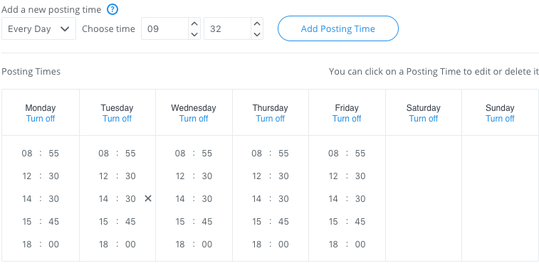 Posting schedules can make it easier to get content ready for social media.