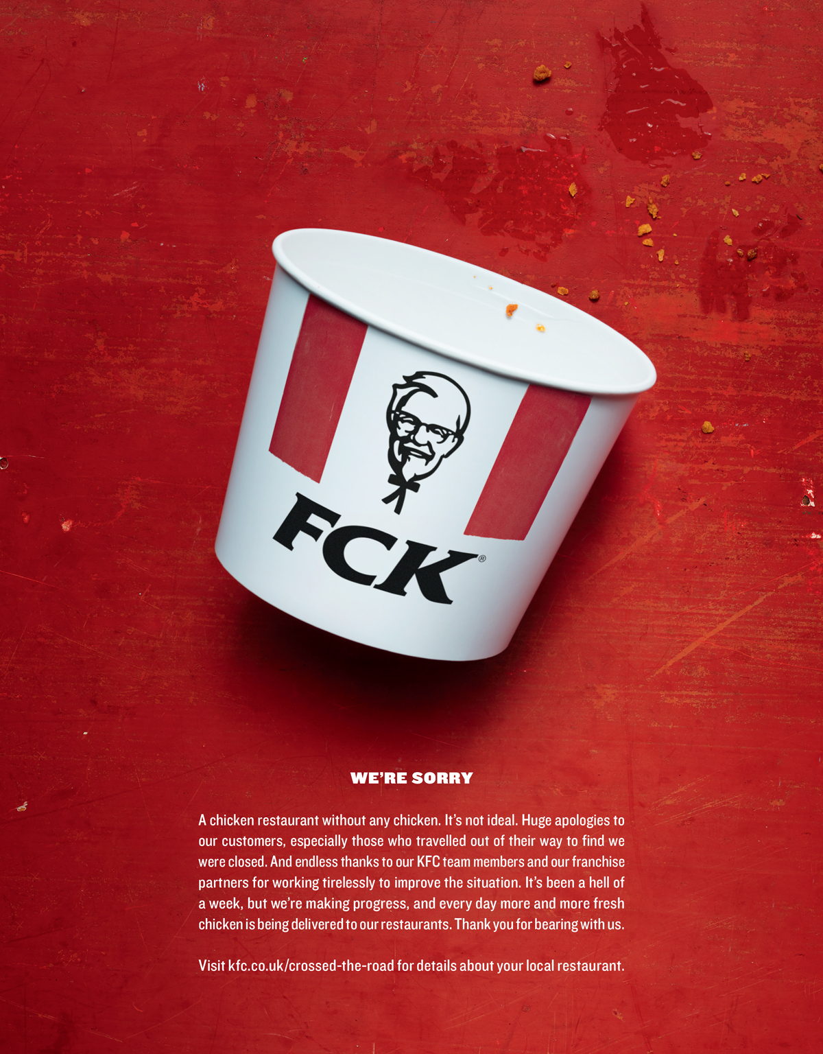 KFC admitted that they 'FCK'-ed up in a recent ad campaign